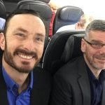 Andrew and James on Plane