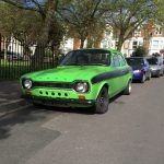 Green Ford Escort