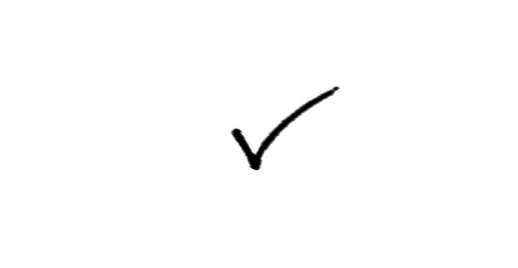 Black Pen Tick Icon