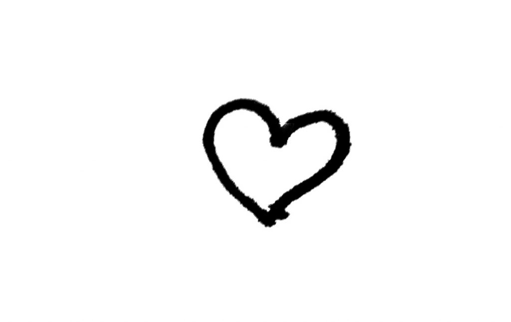 Black Pen Heart Icon