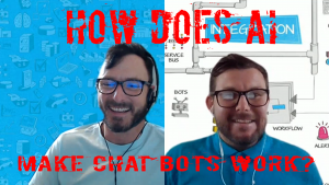 Ep 26 YouTube Cover How AI Makes Chat Bots Work